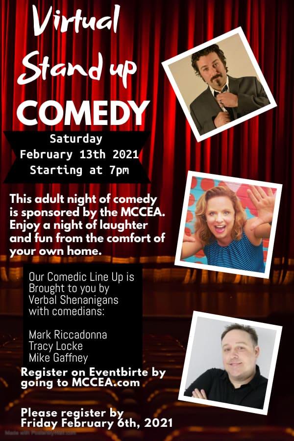 MCCEA Virtual Comedy Night